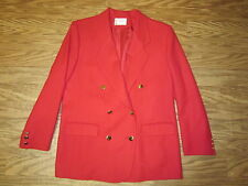 "Pendleton Petite Red Wool Gold Double Button Up Blazer Jackt Women 14 ""NWOT"""