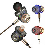 Monitor Bass Earbuds Headset 6 Driver Earphone Wired Surround Sound Headphone