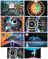 WHOLESALE 80 POSTERS 8x10 UV-Blacklight Glow-In-The-Dark Psychedelic Psy Goa Art