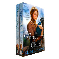 Glenda Young  2 Books Collection Set (The Tuppenny Child, Pearl of Pit Lane)