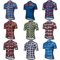 Men's Short Sleeve Cycle Jersey Top Bike MTB Cycling Jersey Shirt Style S-5XL