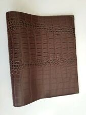 Book Cover Crocodile Brown FAUX LEATHER9 3/8