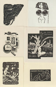 20 Ex libris erotic Exlibris by V. artist / Europe