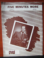 Five Minutes More by Sammy Cahn/Jule Styne 1946 sheet music - Piano vocal guitar