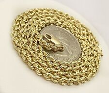 14k Yellow Gold Rope chain Necklace 22 inches, 3 mm wide, 5.8 Grams Unisex