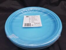 30 x light blue  plastic  disposible plates  22cm for all occasions