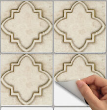 Tile Stickers for Kitchen Backsplash Floor Bath Removable Waterp: Moroccan NS004
