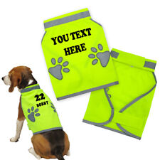 Personalised Custom Dog Reflective Safety Vest High Visibility Pet Jacket Hi Vis
