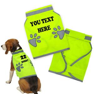 Personalised Custom Dog Reflective Safety Vest High Visibility Pet Jacket Hi Vis