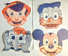 Kellogg's Cereal Box Masks 1950's Disney -Mickey, Donald, Dumbo and Pinocchio