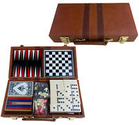Backgammon, Chess, Cribbage, Dominoes, and Checkers Travel game set