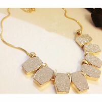 NEW Charm Chain Pendant Crystal Choker Chunky Statement Bib Jewelry Necklace