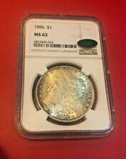 1886 Morgan Silver Dollar NGC MS63 CAC Toned