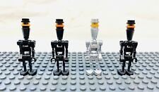 LEGO Star Wars Minifigures ASSASSIN DROID Lot of 4 Black and Silver