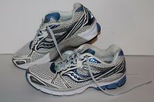 Saucony Guide 5 Running Shoes, #10140-1, White/Blue/Grey, Womens US Size 8