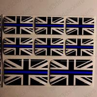 UK Thin Blue Line Flag 3D Sticker Union Jack Gel United Kingdom Resin Domed