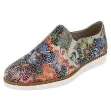 Chaussures plates et ballerines multicolore en cuir pour femme