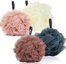 Bath Loofah Sponge Pouf Large Body Shower Mesh Bathing Shower Supplies 4Pack