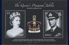 JERSEY  2012  Diamond Jubilee  Queen  Elisabeth II     blok   posfris/mnh
