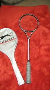 Slazenger Panther Pro Graphite Squash Racket With Case-FREE SHIPPING !!