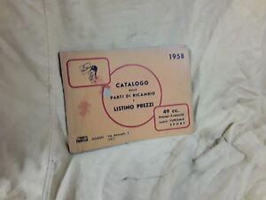 Parilla 49 cc motorcycle Parts Catalog 1958 OEM