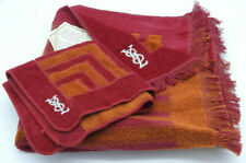 Vintage YSL Hand Towel Yves Saint Laurent Fieldcrest Orange Purple Geometric NEW