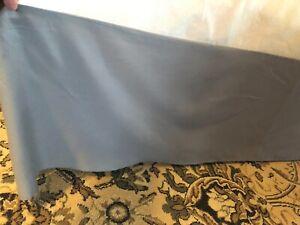 Full Size Bed Skirt and Pillow Sham - Steel Gray Polyester - Bed Skirt