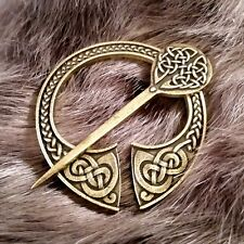 Viking Celtic Brooch Cloak Pin Penannular Bronze Knotwork SCA LARP