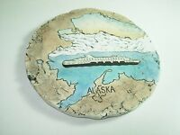 Shapes Of Clay Mt mount St Helens Clay Ash Pottery Wall Hanging Plaque ALASKA