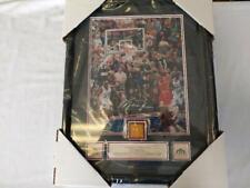 Framed Michael Jordan Bulls 1998 NBA Finals Floor Piece Last Shot UDA
