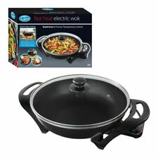 Quest Electric Non-Stick Wok with Lid - Rapid heating 1500w Portable Wok #35870