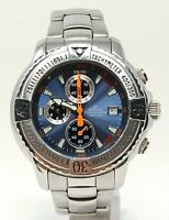 Orologio Pryngeps sangue blu chrono watch all stainless steel clock magnificent