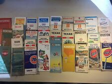 36 x Vintage 1960's Road Maps- Standard Tidewater Sinclair Mobilgas MANY MORE