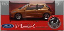 Welly / Nex Models - Peugeot 207 orangemet. 1:43 Neu/OVP Modellauto
