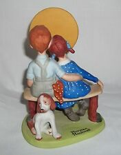 """The 12 Norman Rockwell Porcelain Figurines """"Young Love"""" Sep 1980"""