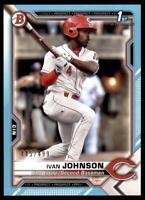 2021 Bowman Prospects Paper Sky Blue #BP-149 Ivan Johnson /499 - Cincinnati Reds