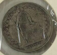 1907 Switzerland, Helvetia - 1/2 Francs Silver