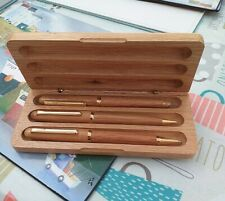 Wooden Set Of Ballpoint Pen, Pencil And Cartridge Pen  great condition.