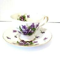 Rossetti Spring Violets Fine China Footed Tea Coffee Cup & Saucer  Made In Japan