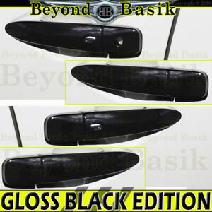 For 2009-2015 Nissan Maxima GLOSS BLACK Door Handle COVERS W/2 SMART Keyholes