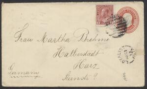 1913 Alberta Cover - Edward PSE to Germany, Loyalist Alta John Deere Dealer