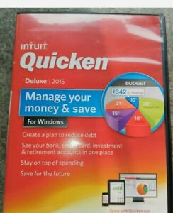 Intuit Quicken Deluxe 2015 For Windows New Fast Ship