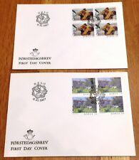 Norway Post FDC 1987.11.12. Christmas Stamps Children & Animals - Block of Four