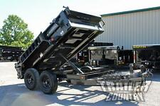 New 5 X 10 7k Gvwr Remote Power Up Amp Down Hydraulic Dump Trailer With Combo Gate
