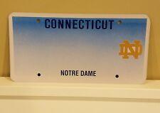 Rare Blank  Connecticut UNIVERSITY NOTRE DAME license plate Fighting Irish Nice