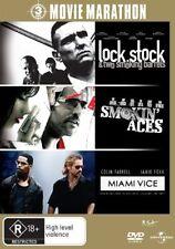 Lock, Stock and Two Smoking Barrels / Smokin' Aces / Miami Vice (DVD, 2008, 3-Di