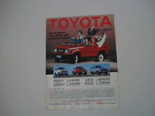 advertising Pubblicità 1987 TOYOTA LAND CRUISER BJ 73