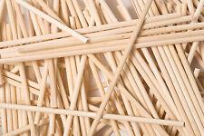 X50 190mm x 6 mm Ronde en Bois Lollipop Gateau Pop Lolly Lollies Crafts bâtons