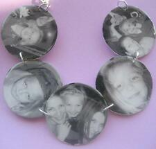 Custom keepsake memory charm bracelet w/your photos NEW circle 5 photo album