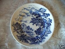 Wedgwood Cobalt Blue Mill Scenic Plate-Made in England
